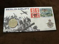 1999 GB COPERCHIO FILATELICO medallic, ponte aereo Berlino Etichetta commemorativa Francobolli