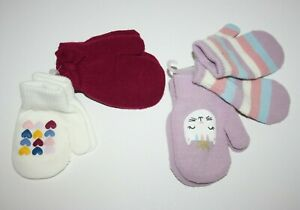 Carter's Toddler Girl's 2-Pack White Red Purple Mitten Fox Stripes Hearts 2T-4T