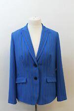 GERRY WEBER COLLECTION Ladies Cobalt Blue Striped Blazer Jacket UK16 EU44 BNWT