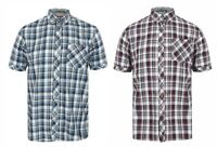 Mens Check Shirt Tokyo Laundry Short Sleeve Cotton New Summer Beach Ashmore S XL