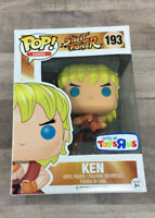"Street Fighter Pop Games 4"" Ken Vinyl Figure #193 Funko Toys R Us 2017 B01"