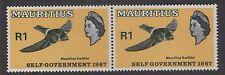 """Mauricio SG348v10 1967 1r auto gobierno """"punto entre E & n"""" estampillada sin montar o nunca montada"""