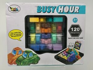 NEW Busy Hour Rush Hour Kids Game Age 3+ Puzzle Gridlock Traffic Jam Logic Game