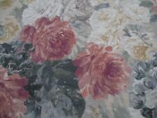 Zoffany Fabric 'ROSE ABSOLUTE' 2.7 METRES (270cm) SUNSTONE/MERCURY - 100% LINEN