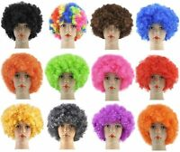 Unisex Curly Afro Fancy Dress Wigs Funky Disco Clown Style Costume
