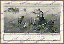 Karl Raupp Chiemsee BARCA PESCATORI famiglia Alta Baviera pittura romanticismo poesia 1912