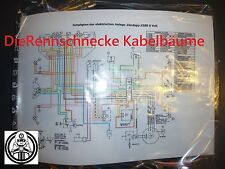Zündapp KS80 Typ 530 Kabelbaum Kabelsatz Nachbau incl. farbigem Schaltplan