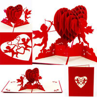 CG_ BL_ Cupid Heart Pop Up Greeting Card Valentine Anniversary Birthday Christma