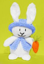 KNITTING PATTERN Springtime girl with Easter bunny choc orange cover //15 cms toy