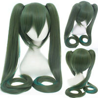 Vocaloid Family Senbonzakura Miku Hatsune Cosplay Wig(Olive Green) 120cm