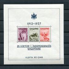 1937.ALBANIA.YVERT 1* .HOJA BLOQUE.NUEVA SIN FIJASELLOS.CAT.38€