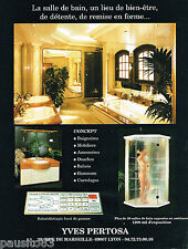 PUBLICITE ADVERTISING 055  1998  YVES PERTOSA  salles de bain balneo douches