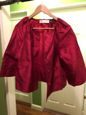Womens Red Silk Suit / Charles Nolan New York