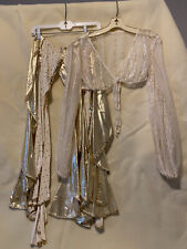 Vintage Gold Harem Pant and Top Set Size M