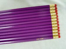 "24 Hexagon ""Light Purple"" Personalized Pencils"