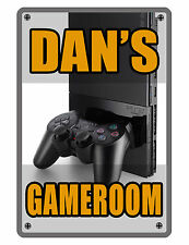 Personalized Game Room Sign Printed with YOUR NAME Custom Metal Sign Video Gamer