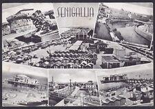 ANCONA SENIGALLIA 32 VEDUTINE Cartolina viaggiata 1958 Ediz. ALTEROCCA - TERNI