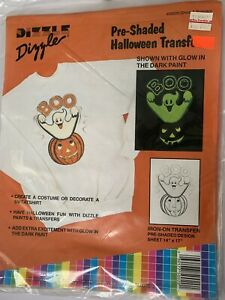 Dizzle  Pre Shaded Halloween Iron On Transfer Vintage 50020 Boo Ghost 1989 USA