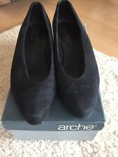 Arche Schuhe Damen 36,5  Nubuck Leder Schwarz Pumps