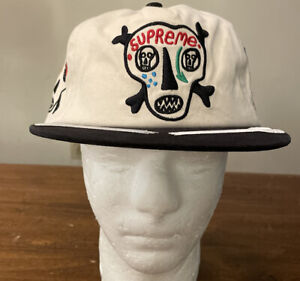 SUPREME/ CLAYTON PATTERSON SKULLS 5-PANEL STONE HAT OS/ SS21 WEEK 7 (IN HAND)