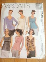 Vintage 1999 Sewing Pattern Pull Over Tops  Size 16-18 Uncut