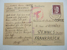 1943 Germany Buchenwald Concentration Camp Postcard Cover KZ France Xavier Comte