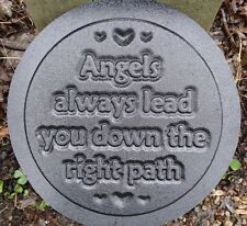 Gostatue MOLD Angels lead you down the right plaque concrete plaster mould