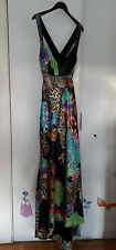 NIKI LIVAS Size 14 Cut Out Full Length Dress Embellished Cocktail Races tkmaxx