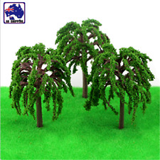 30pcs 80mm Salix Willow Landscape Scenery Green Tree Model Layout HVPO95085x30