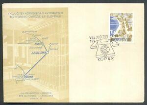 Yugoslavia 1962-05-19, Slovenia, Koper, Telephone, special postmark & cover