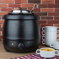 More details for buffalo l715 black soup kettle 10 litre with ladle with two years warranty !!!