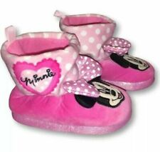 NWT DISNEY MINNIE MOUSE Bootie SLIPPERS SIZE GIRLS TODDLERS