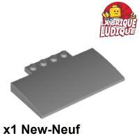 Noir Black Lego 24201-4x Slope curved 2x1 inverted NEW NEUF
