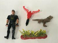 Vtg 1997 Ian Malcolm Jurassic Park Figure T-Rex Hatchling Missile Lost World