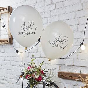 Just Married Wedding Balloons x 10 - Wedding Venue Decoration