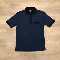 Pendleton Mens Navy Cotton S/S Polo Shirt Size Medium