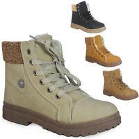 Ladies Women Hi Top Fur Grip Sole Trainer Winter Warm Ankle Boots Shoes Size 3-8