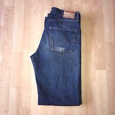 """Ben Sherman Jeans 32"""" Waist Leg 39"""" Navy Blue Denim Button Fly"""