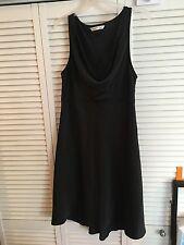 Old Navy Black Dress Cowl Neck 100% Polyester Sleeveless Women's Juniors Size 12