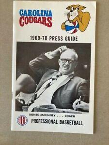 ABA Carolina Cougars 1969-70 Press Guide American Basketball Association