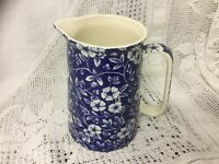 Lord Nelson Ware 1 Pint Jug Blue Chintz Vintage