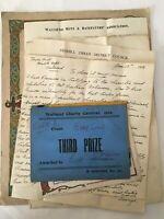 Vintage Ephemera Letters - Wallsend Newcastle 1920s 1930s