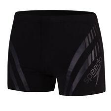 Speedo Mens Sport Panel Aquashorts Swimming Trunks Black 8 113649023