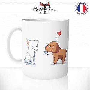 Taza Amour Perro Y Gato - Taza Personalizada - Idea de Regalo Tazas Té Café