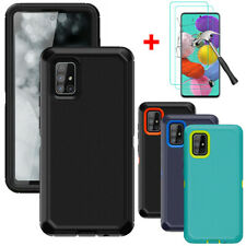 For Samsung Galaxy A51 A71 4G Hybrid Case Cover Armor With HD Screen Protector