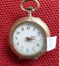 Open Face Ladies Pocket Watch - Gold ( 8 Carat), ca. 1915