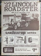 Original MPC '27 Lincoln Roadster Gangbusters Series Kit Promotional Poster