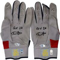 Dexter Fowler St. Louis Cardinals Signed GU Gray and Red Jordan Gloves & Insc