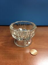 Small Vintage Pressed Glass Dish Footed 3 Inches Diameter