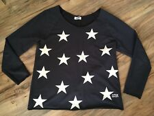 MOLLY BRACKEN PULL SWEAT BLEU NAVY MOTIF ETOILES TU